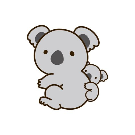 imagenes kawaii de koalas stickers b 233 b 233 koala sticker koala mignon sticker animal