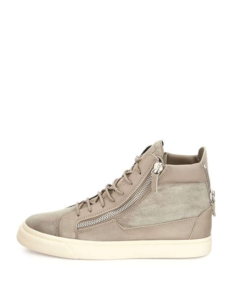 giuseppe sneakers mens giuseppe zanotti suede zip high top sneakers in