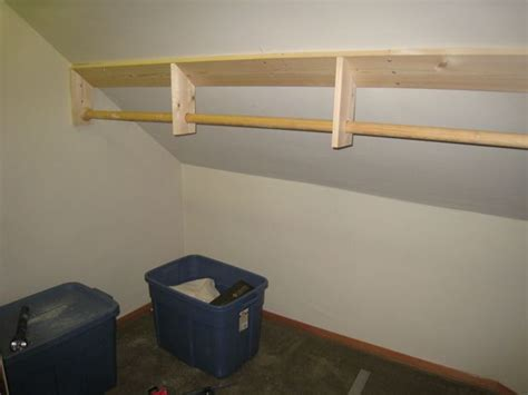 Slanted Ceiling Closet Design by Adventures In Homeowning A New Closet A New Door And In Ten More Weeks A New Baby