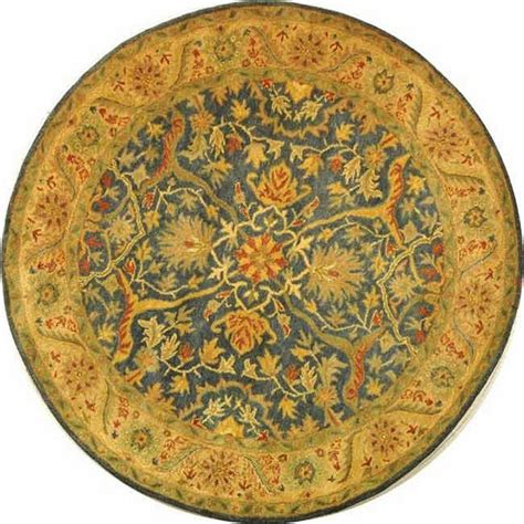 Safavieh Antiquity Blue 8 Ft X 8 Ft Round Area Rug At14e 8 Ft Area Rugs