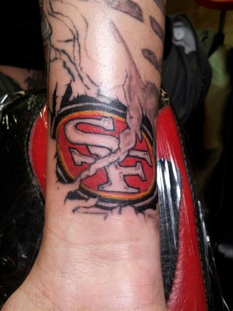 49ers tattoos my die 49ers just in time for football season