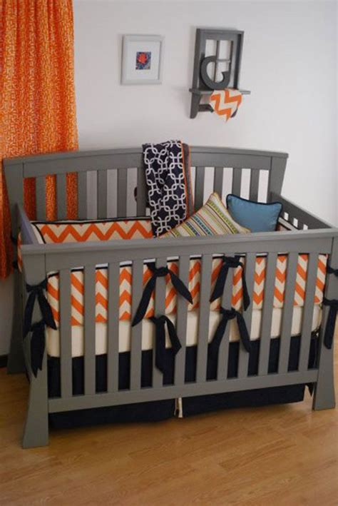 Denver Broncos Crib Bedding Denver Broncos Orange And Navy Custom Crib Bedding Sports Theme Nursery Pinterest Colors