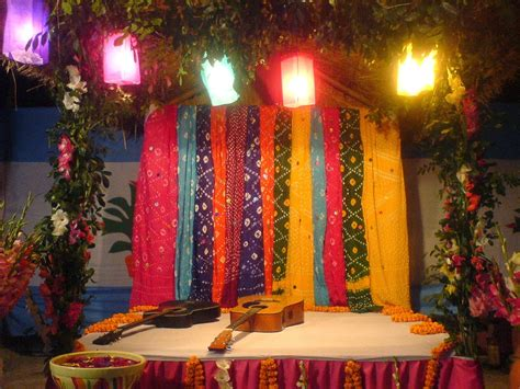 decoration pictures gaye holud stage design wedding snaps