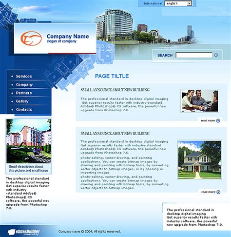 Condo Trade Web Template Poweredtemplate Com Condo Website Templates