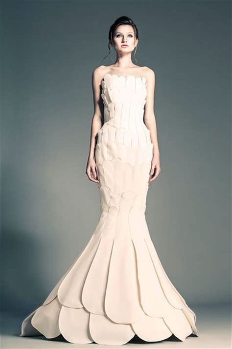 Yoan Texture Dress B L F avant garde mermaid gown jean louis sabaji wedding