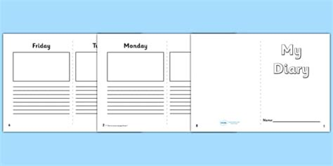 diary writing template ks1 5 day diary writing frame 5 day diary writing frame diary