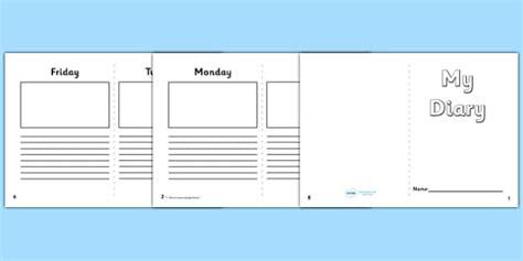 diary writing template ks1 5 day diary writing frame 5 day diary writing frame diary