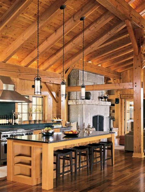 modern edge a minnesota timber frame home timber home