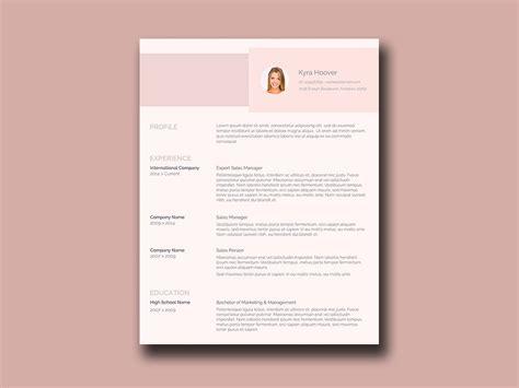 Pink Resume Free Resume Template With Feminine Style Pink Resume Template Free