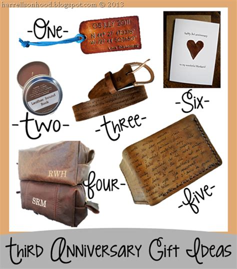 third anniversary leather gift ideas for him etsy finds