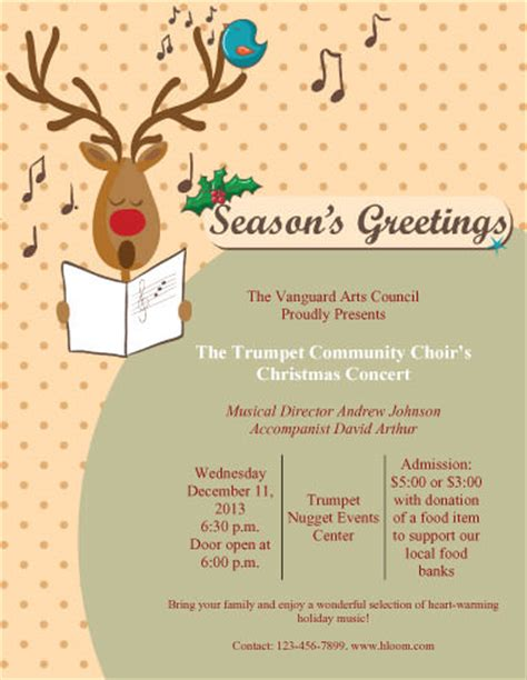 christmas program template 43 free flyer templates for diy printables