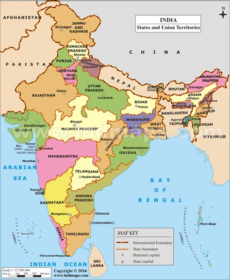 Status Of Mba Education In India by Printable India Map With States India Info Desk News