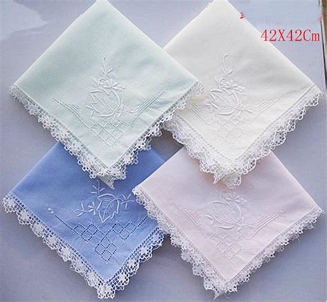 Handmade Handkerchief - handmade handkerchief cotton embroidered handkerchief