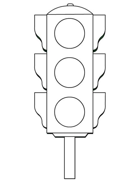 Traffic Signs Coloring Pages Educational Resources Printable Traffic Light