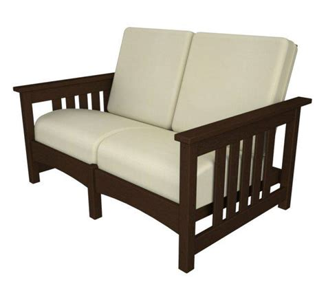 mission settee club mission settee recycled outdoor furniture cmc47