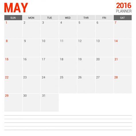 almanaque mayo 2016 calendario mensual mayo 2016 descargar vectores gratis