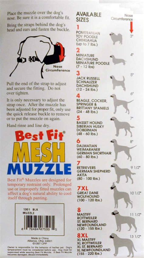 pomeranian size chart cloth muzzle size 1 pomeranian chihuahua poodle ebay