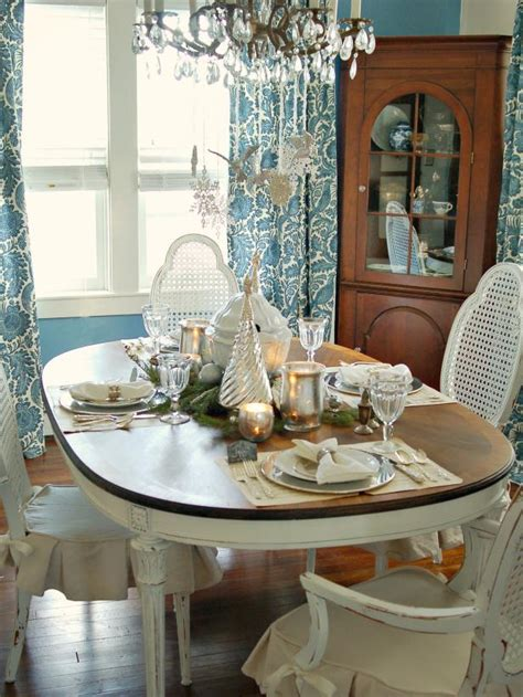 mural of centerpieces for table in everyday life classic silver and white christmas table decor hgtv
