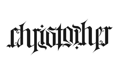 create ambigram tattoos christopher ambigram design tattooshunt