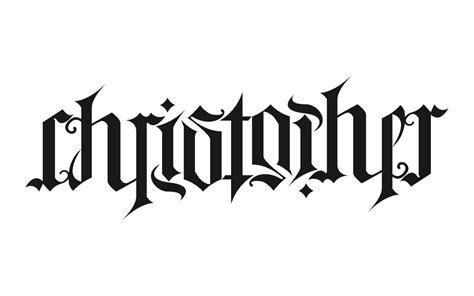 tattoo font ambigram ambigram christopher wordplay n ambigrams pinterest