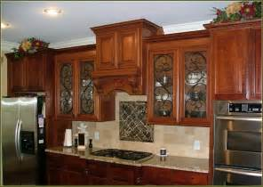 Kitchen Cabinet Door Glass Inserts Glass Cabinet Door Gorgeous Kitchen With Floor To Ceiling