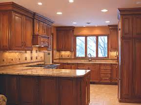 Kitchen Cabinets And Countertop Color Combinations Birch Kitchen Cabinets Offer Right Combination To Color Tiles And Walls The Kitchen
