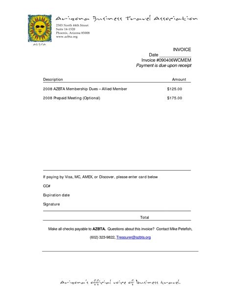 due upon receipt of invoice invoice template ideas