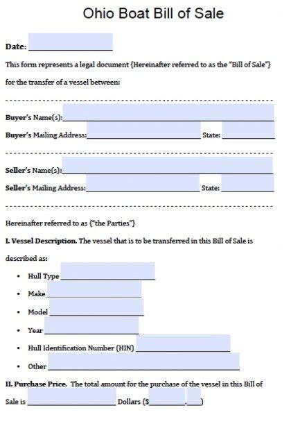 jon boat registration ohio free ohio boat bill of sale form pdf word doc