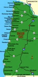 coast of oregon map map of oregon coast