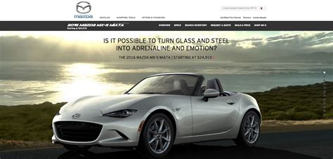 mazda website usa a out with the mazda mx 5