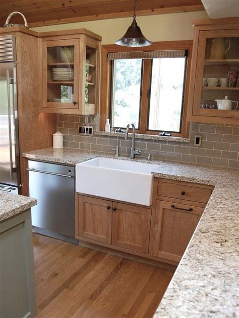 What Color Subway Tile With Oak Cabinets | subway tiles cabinets and tile on pinterest