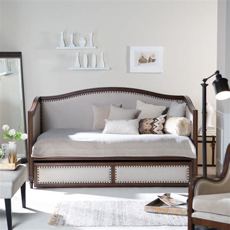 day bed headboards belham living halstead upholstered daybed on hayneedle