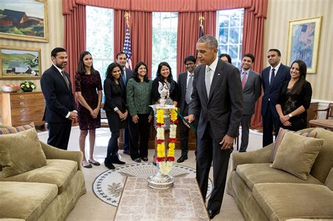 obama s oval office barack obama celebrates diwali lights diya in