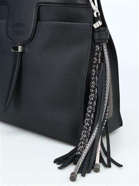 Small Black Leather by Tod S Thea Small Black Leather Bag Bags