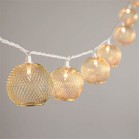 Gold Wire Globe 10 Bulb String Lights World Market Gold String Lights