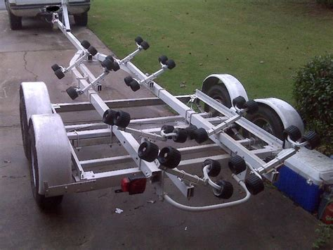 boat trailer roller dimensions 24 foot roller trailer the hull truth boating and