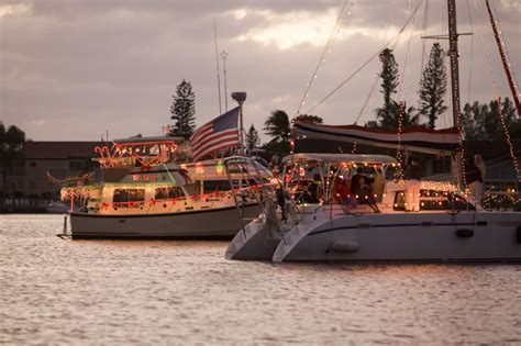 cape coral boat parade holiday guide to the beaches of fort myers sanibel