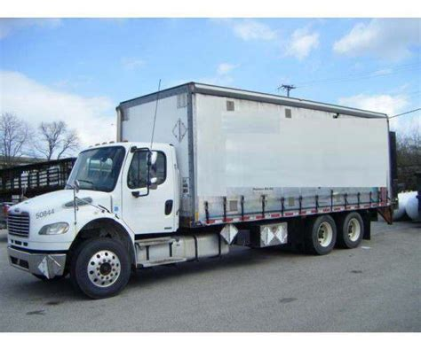 curtain side box truck 2008 freightliner m2 curtain side truck sold sku m401