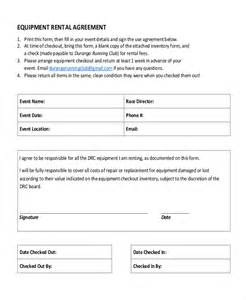 Employee Vehicle Use Agreement Template by 12 Equipment Rental Agreement Templates Free Sle
