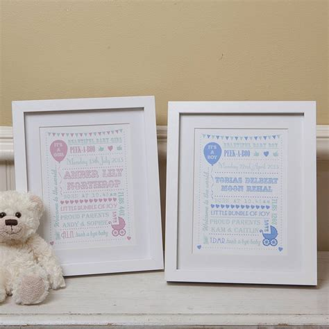 Typography Gift personalised new baby typography gift print by lovely
