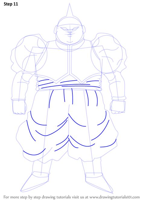 tutorial line art android learn how to draw android 19 from dragon ball z dragon