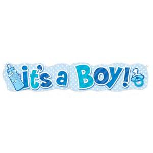 Baby Boy Welcome Home Decorations it s a boy baby announcement jointed banner shopswell
