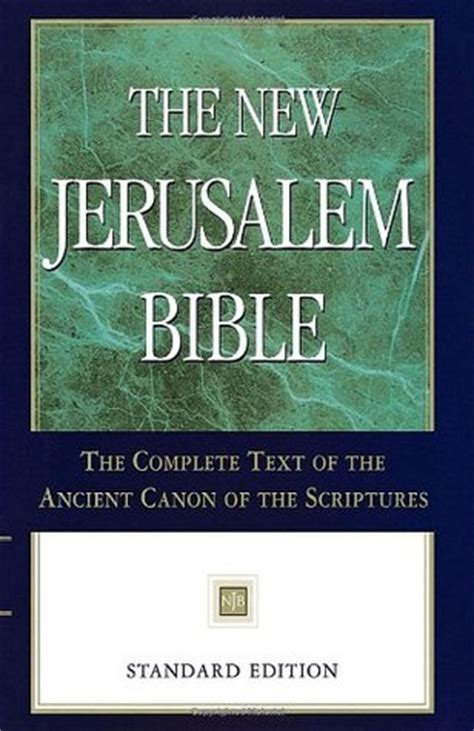 the new jerusalem books the new jerusalem bible by anonymous reviews discussion