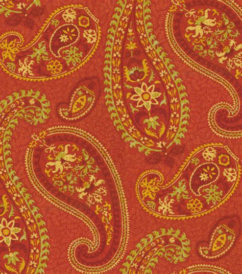 Paisley Home Decor Fabric by Home Decor Print Fabric Waverly Caftan Paisley Cardamom At