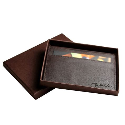Card Holder personalised leather card holder by nv calcutta