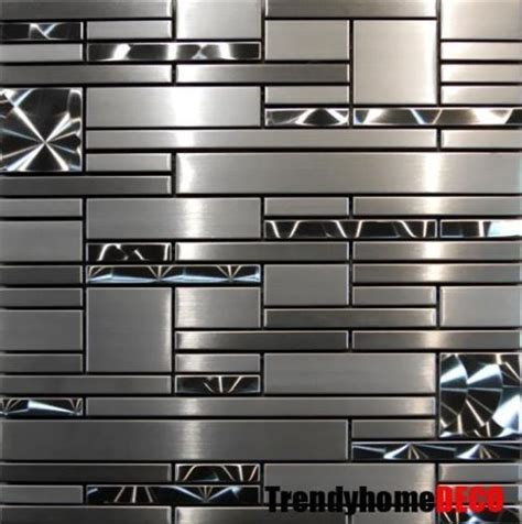 metallic backsplash tile 25 best ideas about stainless steel backsplash tiles on