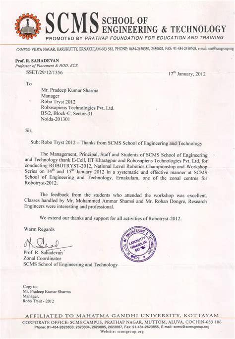 appreciation letter to school appreciation and recognition of robosapiens