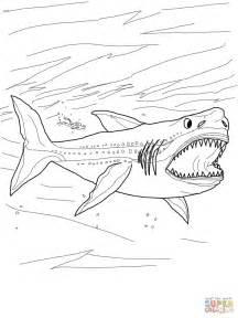 Megalodon Shark Coloring Pages megalodon shark coloring page free printable coloring pages
