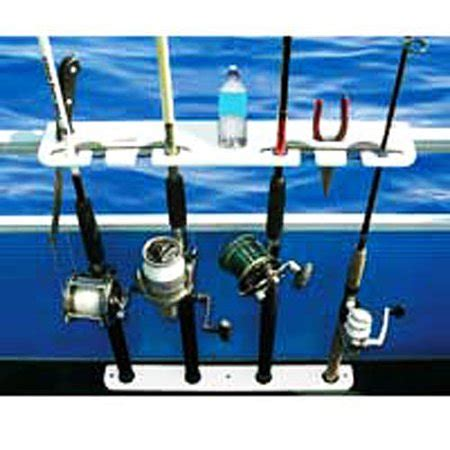 white taco boats taco metals taco deluxe 4 rod pontoon boat tackle rack