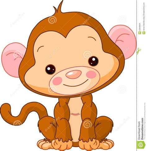 baby clip on fan zoo monkey stock vector illustration of happiness